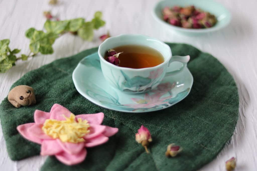 玫瑰花茶のアロマセラピー効果