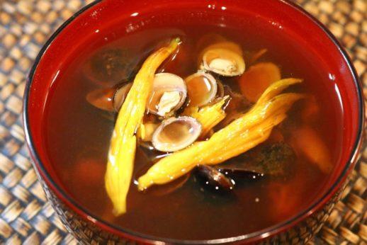 しじみと金針菜の味噌汁