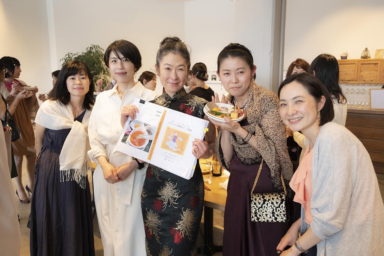 高橋貴子先生の出版記念パーティでの薬膳講師須崎桂子