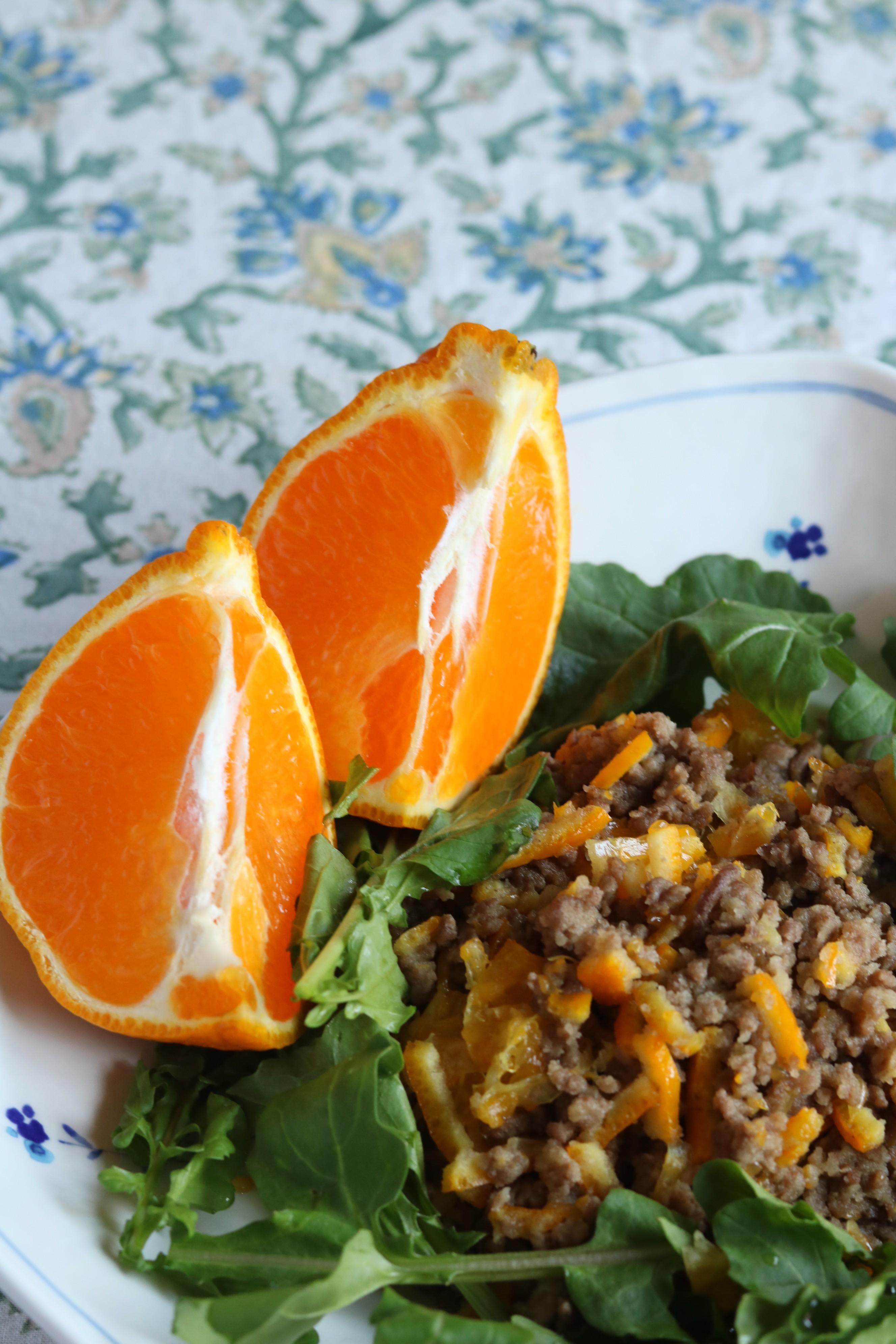 柑橘風味の米粉肉そぼろ(縦撮り)