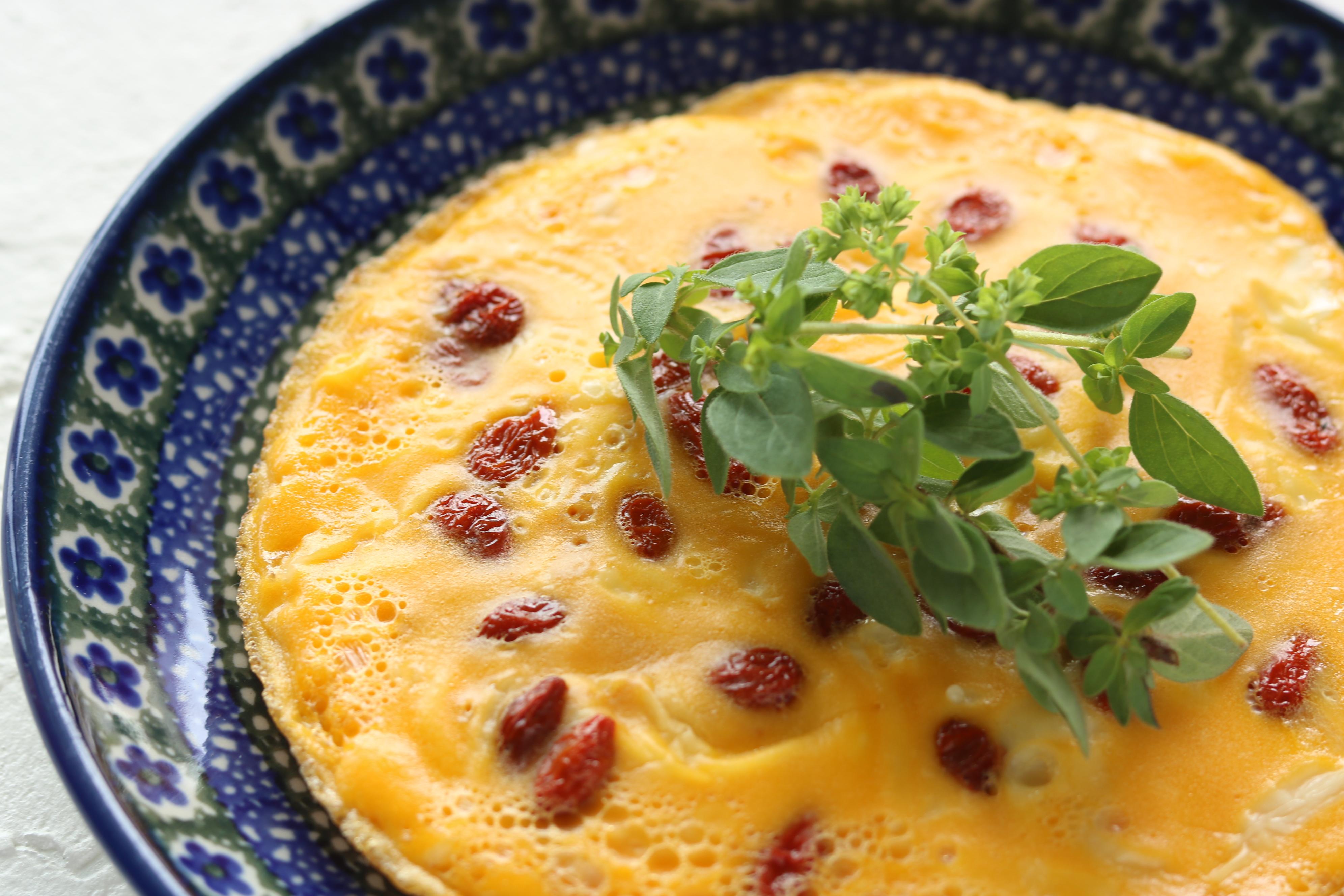 枸杞の実のチーズオムレツ