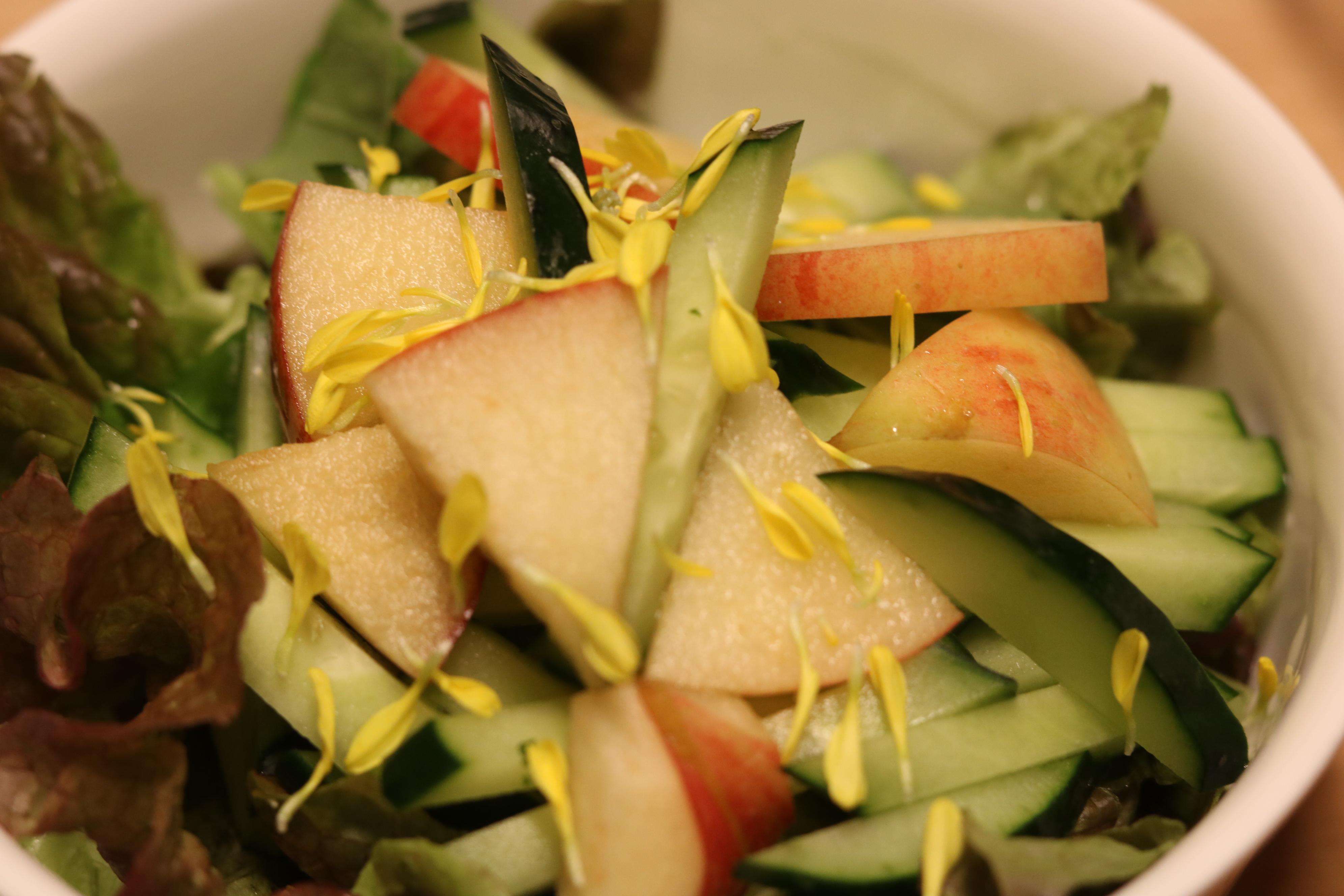 浮腫み改善の薬膳「りんごと胡瓜のサラダ」