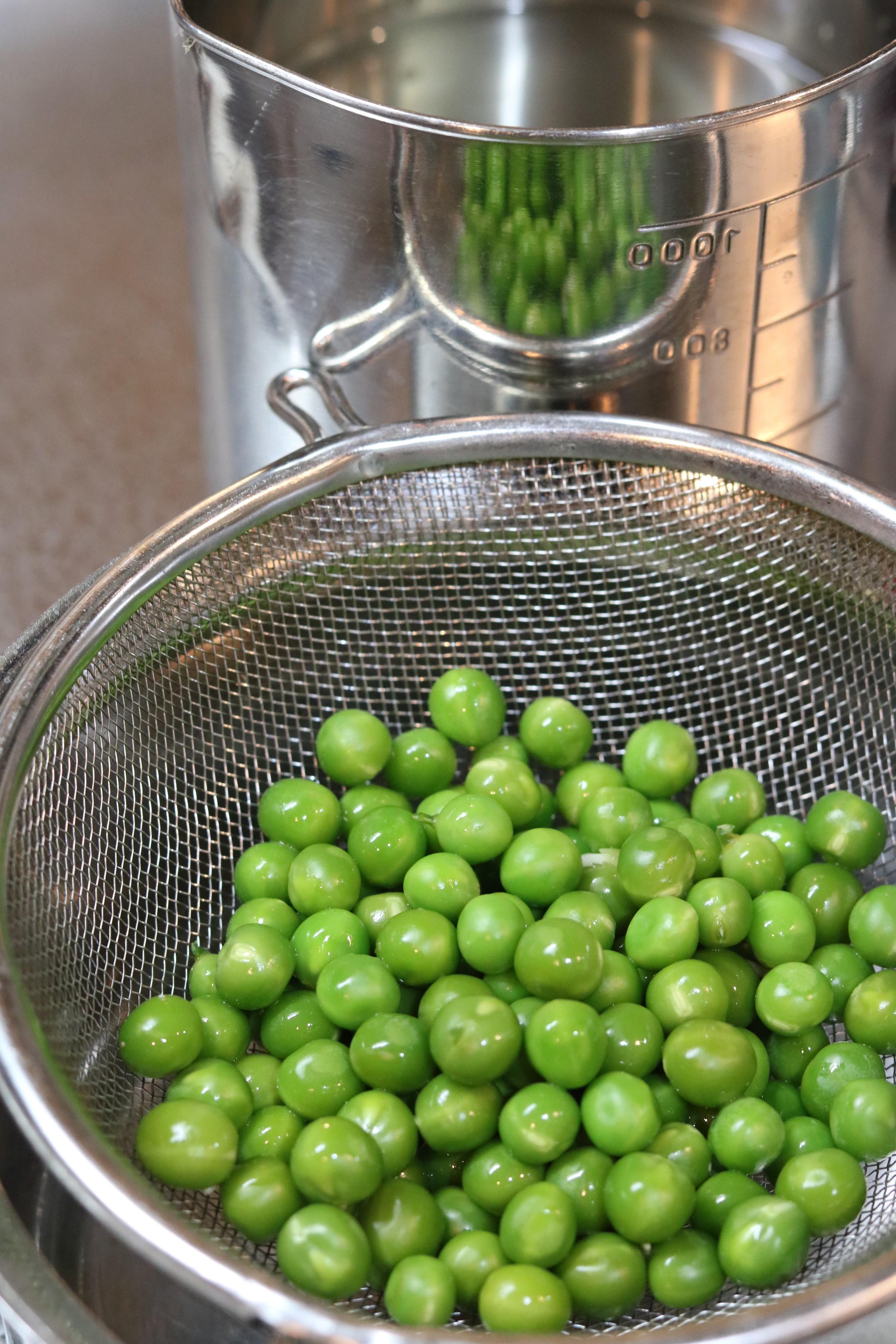 グリーンピースのフレッシュ煎じ液のテクニック
