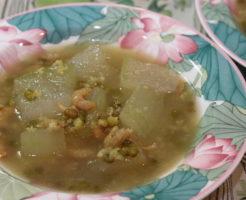 冬瓜と緑豆の干し海老スープ