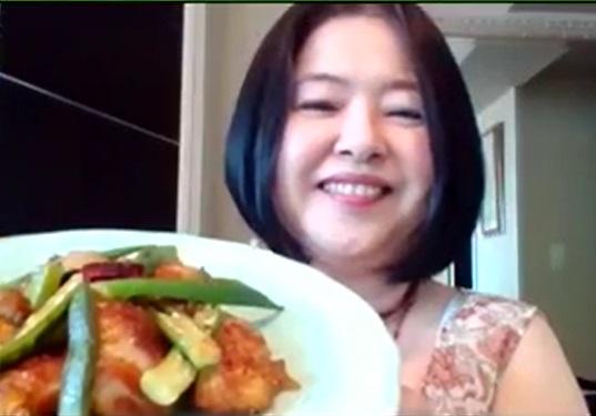 ♣鶏肉とオクラのピリ辛炒め「夏バテ予防の薬膳」