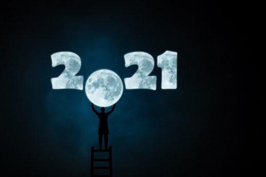 2021年の新年の満月
