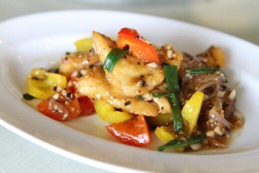 川魚と野菜の中華炒め